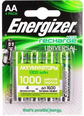 Аккумуляторы Energizer Universal 1300 mAh AA 4 шт 638590/E300322101 yinyan by 20 universal camera flash speedlite black 4 x aa