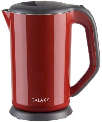 Чайник GALAXY GL0318 2000 Вт красный 1.7 л металл/пластик чайник galaxy gl0301 2000 вт 1 5 л пластик белый рисунок