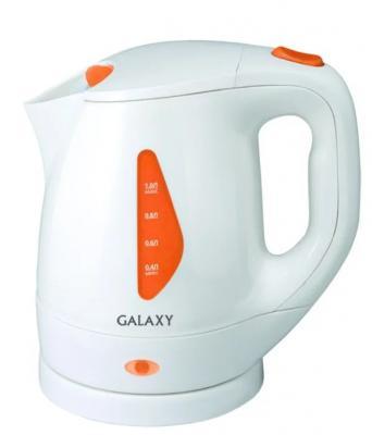 Чайник GALAXY GL0220 900 Вт белый 1 л пластик чайник galaxy gl0504 1400 вт белый 1 2 л керамика