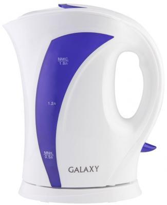 Чайник GALAXY GL0103 2200 Вт белый фиолетовый 1.8 л пластик