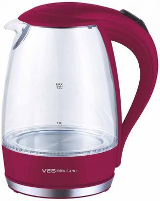 Чайник VES Electric 2006-R 2200 Вт красный 1.7 л стекло