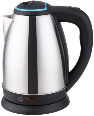 Чайник Irit IR-1338 1500 Вт серебристый голубой 1.8 л нержавеющая сталь