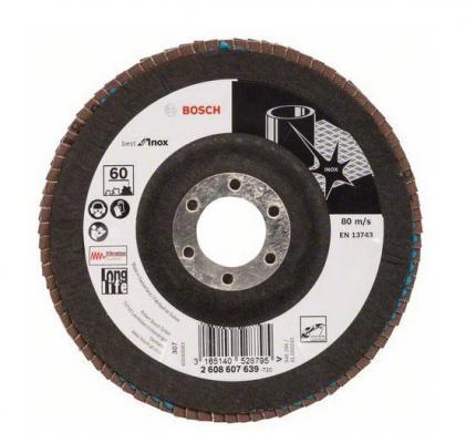 Лепестковый диск Bosch 125мм 2608607639