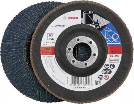 Лепестковый диск Bosch 125мм K60 Best for Metal 2608606923