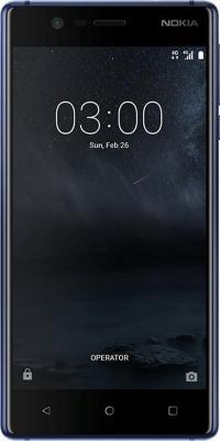 Смартфон NOKIA 3 Dual sim синий 5 16 Гб NFC LTE Wi-Fi GPS 3G TA-1032 11NE1L01A06 смартфон micromax q334 canvas magnus черный 5 4 гб wi fi gps 3g