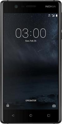 "Смартфон NOKIA 3 Dual sim черный 5"" 16 Гб NFC LTE Wi-Fi GPS 3G TA-1032 11NE1B01A09"