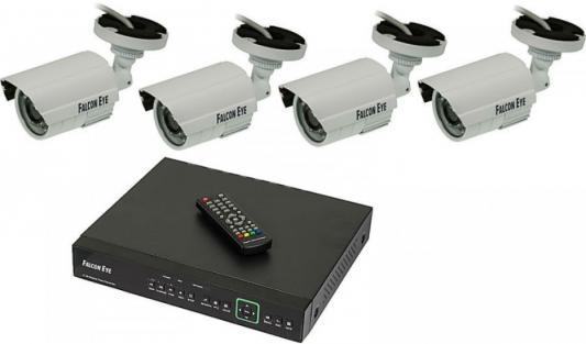 Комплект видеонаблюдения Falcon Eye FE-104MHD Kit Дача 4 камеры 4-х канальный видеорегистратор видеонаблюдение falcon eye fe 104ahd kit дача