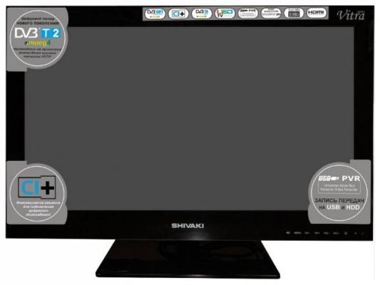 Телевизор SHIVAKI STV-24LEDG9 черный телевизор shivaki stv 32led16