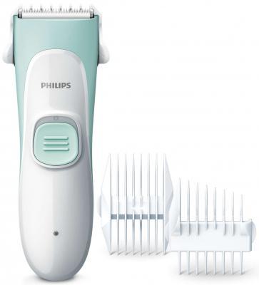 Машинка для стрижки волос Philips HC1066/15 белый мятный машинка для стрижки philips hc1066 15