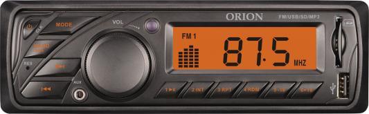 Автомагнитола Orion DHO-1600U USB MP3 FM 1DIN 4x40Вт черный