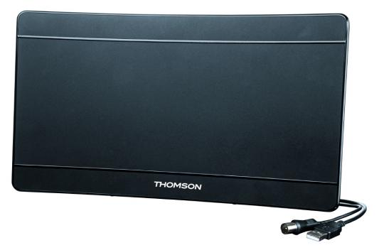 Антенна Thomson ANT1706 43дБ активная черный кабель 1.4м thomson ant1706