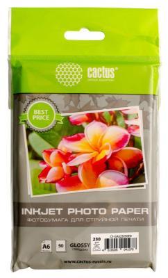 Картинка для Фотобумага Cactus CS-GA623050ED 10x15 230г/м2 50л белый глянцевая для струйной печати