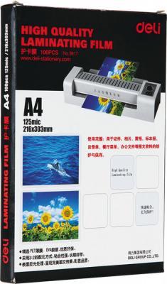Фото - Пленка для ламинирования Deli E3817 А4 125мкм 100шт пленка для ламинирования bulros a4 125мкм 100шт