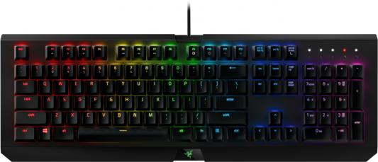 Клавиатура проводная Razer BlackWidow X Chroma USB черный RZ03-01760200-R3M1 ушм болгарка metabo wev 15 125 quick 600468000