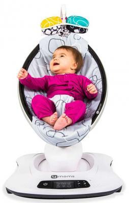 Качели-шезлонг электронные 4moms MamaRoo 4.0 (grey plush) качалка детская 4moms 4moms кресло шезлонг mamaroo 3 0 мульти плюш