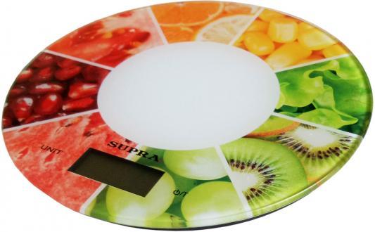 все цены на Весы кухонные Supra BSS-4603 белый ягоды онлайн
