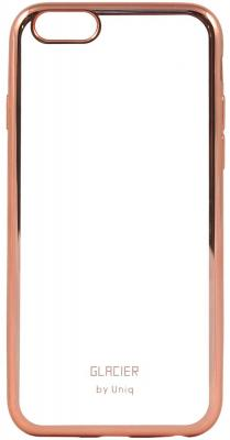 Чехол силиконовый Uniq Glasier Glitz для iPhone 6/6S rose gold