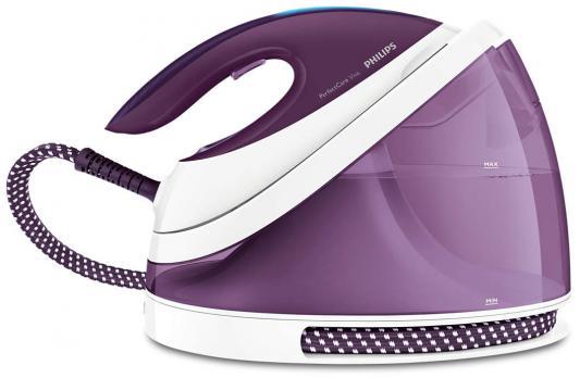 Парогенератор Philips GC7051/30 2400Вт белый фиолетовый утюг philips gc4519 30 2400вт фиолетовый белый