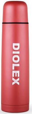 Термос Diolex DX-500-2-C 0,5л красный синий коричневый термос miessa цвет белый синий коричневый 500 мл