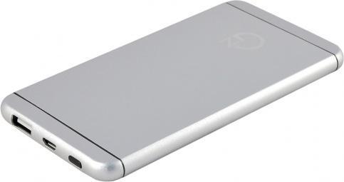 Внешний аккумулятор Power Bank 5000 мАч NewGrade HJ620W серебристый