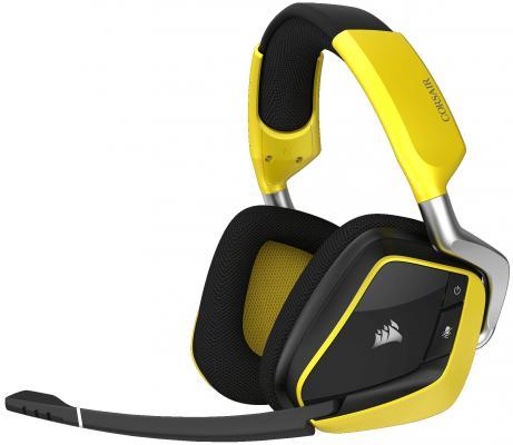 Игровая гарнитура беспроводная Corsair Gaming VOID PRO RGB Wireless SE желтый черный беспроводная гарнитура fiil diva pro беспроводная гарнитура haoyue white интеллектуальное шумоподавление локальный hd non destructive play voice interactive