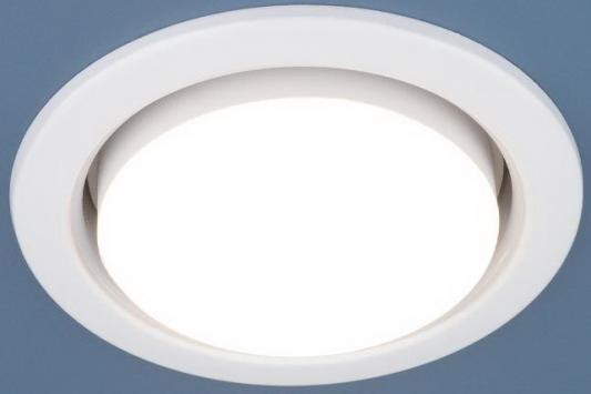 Встраиваемый светильник Elektrostandard 1035 GX53 WH белый 4690389067549 встраиваемый светильник elektrostandard 1035 gx53 ch хром 4690389065156