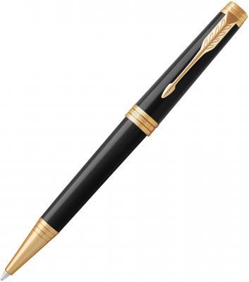 Шариковая ручка поворотная Parker Premier K560 Lacque Black GT черный M 1931412 parker шариковая ручка parker s0808170