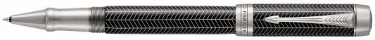 Ручка-роллер Parker Duofold T307 Prestige Black Chevron CT черный F 1945416 ювелирные ручки parker ручка перьевая duofold prestige black shevron