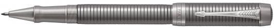 Ручка-роллер Parker Duofold T308 Prestige Ruthenium Chiselled CT черный F 1931368 стержень роллер parker parker s0168630 черный m