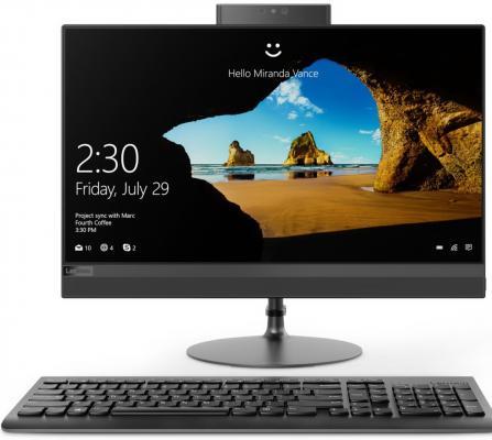 Моноблок Lenovo IdeaCentre AIO520-24IKL  23.8'' FHD(1920x1080)/Intel Core i5-7400T 2.40GHz Quad/8GB/2TB+128GB SSD/RD 530 2GB/DVD-RW/WiFi/BT4.0/CR/W10H/1Y/BLACK
