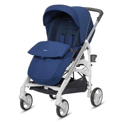 Прогулочная коляска Inglesina Trilogy All Over (cobat blue/шасси white/цельная ручка) коляска inglesina classica nappa blue white
