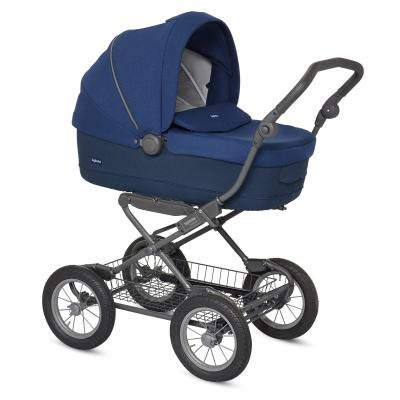 Коляска для новорожденного Inglesina Sofia на шасси Ergobike Slate (AB15J6CBL + AE15H6100/ цвет cobalt blue)