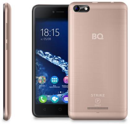 Смартфон BQ BQ-5058 Strike Power Easy золотистый 5 8 Гб Wi-Fi GPS 3G планшет bq bq 7021g hit black spreadtrum sc7731 1 3 ghz 512mb 8gb 3g gps wi fi cam 7 0 1280x800 android