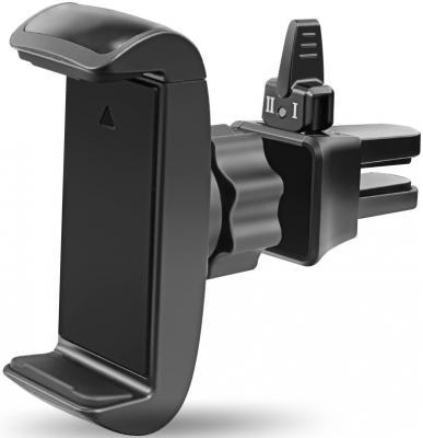 Автомобильный держатель Ginzzu GN-318B на решетку обдува черный автомобильный держатель perfeo ph 521 до 6 5 на стекло торпедо черный
