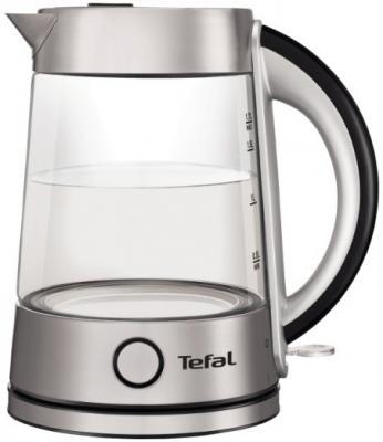 Чайник Tefal KI760D30 2400 Вт серебристый 1.7 л стекло чайник electrolux eewa5210 2400 вт 1 5 л металл серебристый