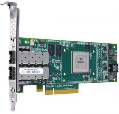Контроллер Lenovo QLogic 16Gb FC 2-port HBA for IBM System x 00Y3341 контроллер dell nic qlogic 2662 dual port 16gb fibre channel hba low profile 406 bbbh