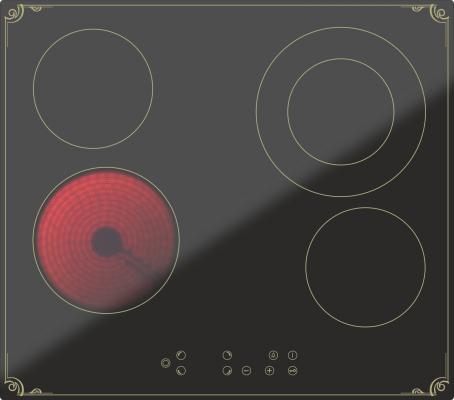 Варочная панель электрическая Дарина 4P8 E 326 B черный 000055441