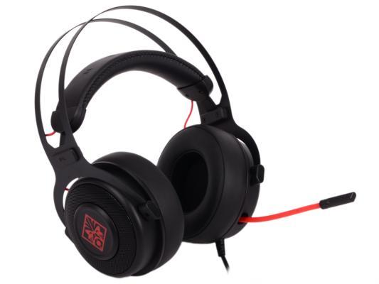 Игровая гарнитура проводная HP Omen 800 черный красный 1KF76AA гарнитура проводная razer kraken usb