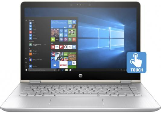 Ноутбук HP Pavilion x360 14-ba106ur 14 1920x1080 Intel Core i7-8550U 2PQ13EA ноутбук hp pavilion x360 14 ba105ur 2pq12ea core i7 8550u 8gb 1tb 128gb ssd nv 940mx 4gb 14 0 fullhd touch win10 silver