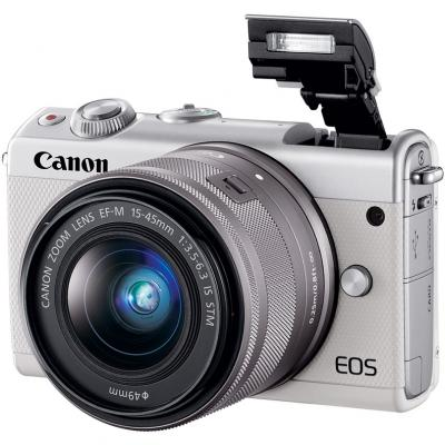 Фотоаппарат Canon EOS M100 18Mpix 3 1080p WiFi 15-45 IS STM LP-E12 белый 2210C012 цифровая фотокамера canon eos m10 15 45is stm white 0922c012