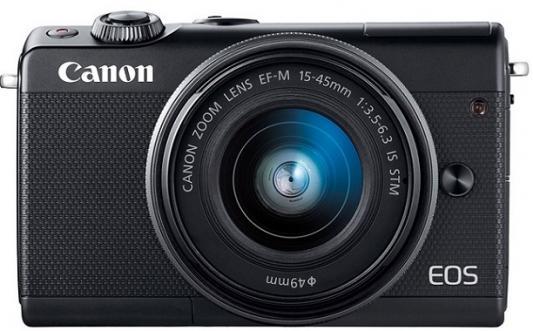 Фотоаппарат Canon EOS M100 18Mpix 3 1080p WiFi 15-45 IS STM LP-E12 черный 2209C012 canon canon eos m100 микродвигателей один белый корпус
