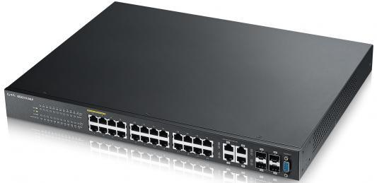 Коммутатор Zyxel GS2210-24LP управляемый 24 порта 10/100/1000Mbps коммутатор zyxel gs1100 16 gs1100 16 eu0101f