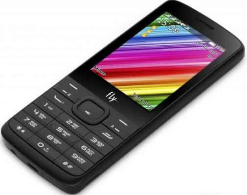 Телефон Fly TS113 черный мобильный телефон fly ff178 32mb black