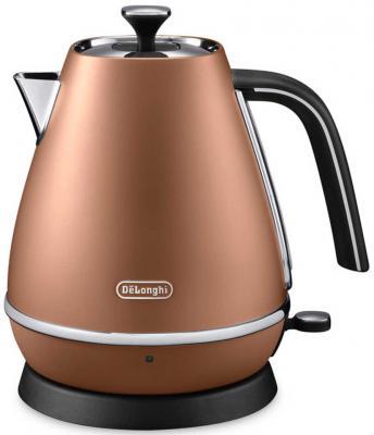 Чайник DeLonghi KBI2000.CP 2000 Вт бронзовый 1 л металл электрочайник de longhi kbi2000 bz