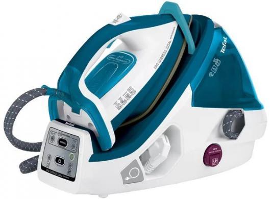Парогенератор Tefal GV8961 2200Вт белый синий утюг tefal gv8961