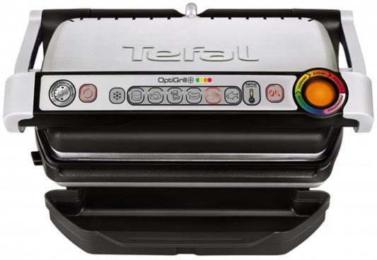 Электрогриль Tefal Optigrill + серебристый чёрный (GC712D34)