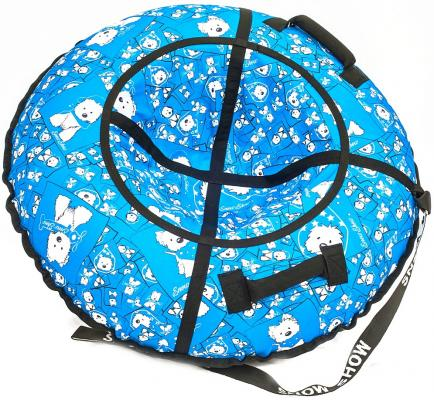 Тюбинг R-Toys Собачки на голубом до 120 кг рисунок полипропилен ПВХ 6785 тюбинг rt ural bear до 120 кг тентовая ткань рисунок 6966