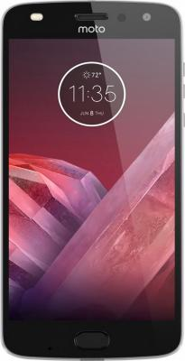 "купить Смартфон Motorola Moto Z2 Play серый 5.5"" 64 Гб LTE NFC Wi-Fi GPS 3G XT1710 SM4481AC3U1 + WoodPanel ASMCAPCHAHEU недорого"