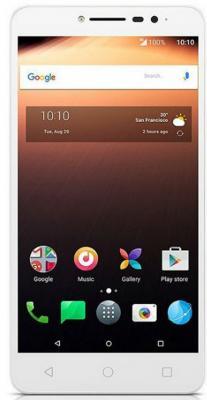 Смартфон Alcatel A3 XL 9008D белый голубой 6 16 Гб LTE Wi-Fi GPS 3G 9008D-2CALRU1