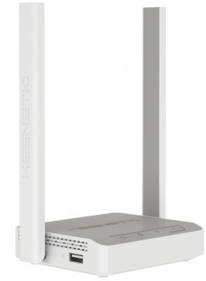 Беспроводной маршрутизатор Keenetic 4G KN-1210 802.11bgn 300Mbps 2.4 ГГц 3xLAN USB серый белый
